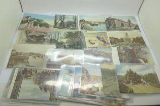 Edwardian postcards (32) including Tucks; Nottingham, London, etc.