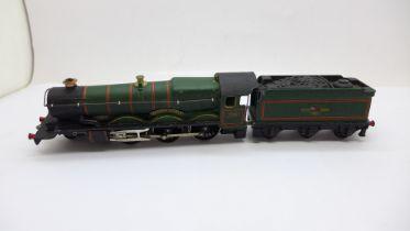 A Hornby Dublo Denbigh Castle 4-6-0 steam locomotive and tender
