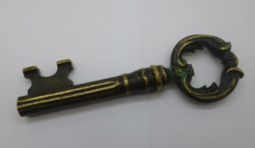 A corkscrew in the form of a key