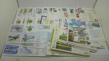 Stamps; RAF Escaping Society and RAF covers, including 58 signed