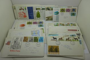 Seventy-six first day covers, 1970's and 1990's