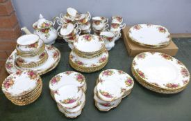 Royal Albert Old Country Roses including six small plates, six side plates, six bowls, six tea