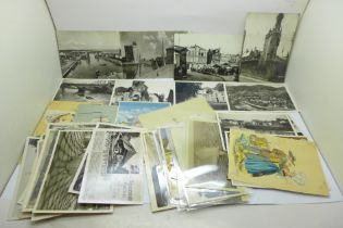 Fourty-four postcards including Abrahams, Devonport and WWI