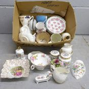 A collection of china including an Aynsley Pembroke set, Coalport, Royal Windsor, Midwinter, New