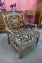 An Edward VII inlaid rosewood lady's chair