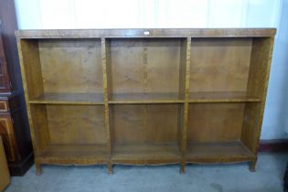An early 20th Century satinwood open bookcase