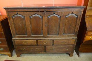 A George III oak housekeeper's cupboard