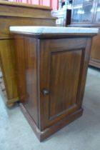A Victorian mahogany and marble topped night stand