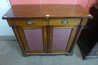 A Regency mahogany side cabinet