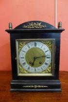 An early 20th Century German ebonised Lenzkirch bracket clock
