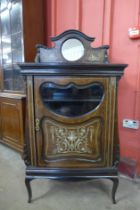 An Edward VII inlaid rosewood side cabinet