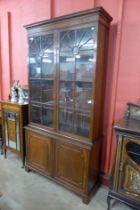 A George III style mahogany bookcase