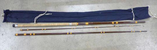 A Hardy Matchmaker 13ft fibreglass fishing rod, unused