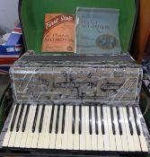 A Hohner Verdi III piano accordion
