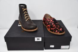 One as new Chapter 2 Wren bear boots size 34. One as new Chapter 2 Swift Pink Leo shoes size 34.