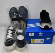 One as new Adidas Tresc Run Shoes size UK 9.5 (EG7394). One as new Lakeland Active blue lorton clogs