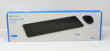 A boxed as new Microsoft Wireless Desktop 900 Keyboard and Mouse in Black (box sealed).
