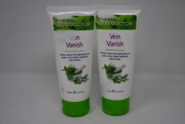 Eight tubes of Herbal Skin Doctor Vein Vanish, 100ml.