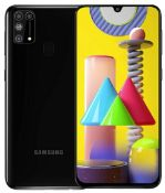 A boxed as new Samsung M31 Android Mobile Phone SM-M315F/DSN 128GB in Black. Requires UK Plug-USB