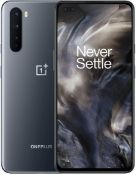 A boxed as new OnePlus Nord Android Mobile Phone AC2003 8GB RAM 128GB Storage in Gray Onyx UK Plug