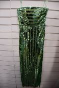 One women's as new Galvan London Green Stargaze Bandeau Dress size 40 (120SEDR002404JD).