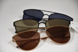 Three pairs of as new Pepe Jeans Dylan sunglasses (No cases).