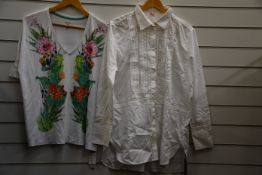 A Marc Cain blouse (Size N4?) (RRP £94) and a Marc Cain top (Size N5?) (RRP £61).