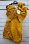 An as new Oscar De La Renta bow-embellished Moiré mini dress (Size US 0 - RRP £1600 - 2000).