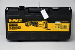 One boxed as new DeWalt reciprocating saw (Model: DWE305PK-LX).