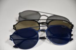 Three pairs of as new Pepe Jeans Grace sunglasses (No cases).