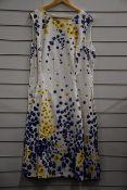 One as new Hobbs Cleo dress in ivory/multi (UK 20).