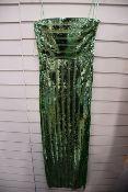 One women's as new Galvan London Green Stargaze Bandeau Dress size 36 (120SEDR002404JD).