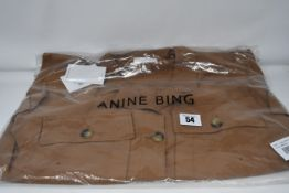 One as new Anine Bing Kaiden Belted Utility Dress In Brown size M (A-02-1009-250).