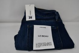 A pair of as new Frame Le Beau jeans in Burnside (Size 27).