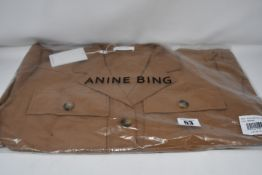 One as new Anine Bing Kaiden Belted Utility Dress In Brown size XS (A-02-1009-250).