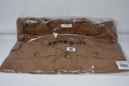 One as new Anine Bing Kaiden Belted Utility Dress In Brown size L (A-02-1009-250).