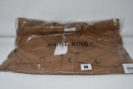 One as new Anine Bing Kaiden Belted Utility Dress In Brown size S (A-02-1009-250).