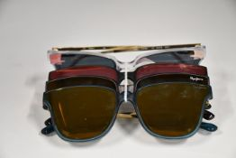 Four pairs of as new Pepe Jeans Luna sunglasses (No cases).