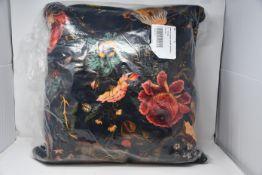 An as new House Of Hackney Artemis large velvet cushion in black.
