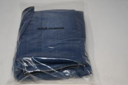 Two pairs of men's as new Dolce & Gabbana denim jeans, 1 x size 44, 1 x size 46 (No tags).