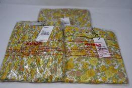 Three items of as new Faithfull The Brand clothing; Celia skort (L), Agathe mini dress (M) and