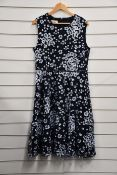 One as new Hobbs Lilith dress in navy blue (UK 16).