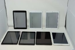 SOLD FOR PARTS ONLY: Three pre-owned Apple iPad Air (Wi-Fi only) A1474 in Space Grey (one with small