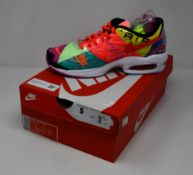 A pair of as new Nike Air Max 2 Light QS in black/bright crimson (UK 8).