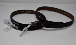 Twenty as new Ibex England leather belts (Assorted sizes).