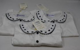 Ten girls as new Rachel Riley London Heart embroidered blouses (2Y, 3Y, 4y, 5Y, 2 x 6Y, 2 x 7Y, 2