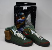 A pair of Adidas Top Ten Hi Star Wars Boba Fett trainers (UK 9.5).