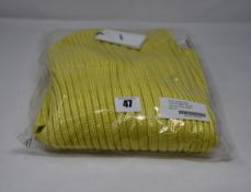 An as new Coperni sweater dress in baby yellow (M).