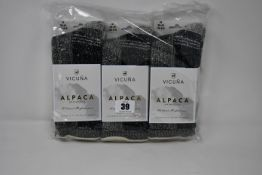 Seven pairs of Vicuna London Alpaca Antarctica 4003 Antarctica Sock (All M 6-8 - RRP £32 a pair).