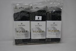 Six pairs of Vicuna London Alpaca Antarctica 4003 Antarctica Sock (All M 6-8 - RRP £32 a pair).